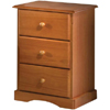 Solid Pine Nightstand With 3 Drawers 552_(PIFS)