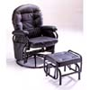Black Color Glider Rocker With Ottoman 5595 (IEM)
