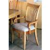 Maple Finished Pierced Back Arm Chair 5883 (CO)