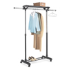 Deluxe Adjustable Garment Rack With Shelf 6021-1751(WT)
