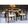 Round Antique Bronze Dinette Set 6201-45/502 (WD)