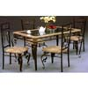 Antique Bronze Dinette Set 6201-36/502 (WD)