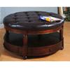 Round Storage Ottoman 700188 (CO)