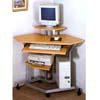 Silver And Wood Top Corner Computer Desk 7051 (CO)