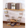 Chrome And Wood Entertainment Center 7090 (CO)