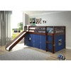 Solid Wood Twin Low Loft Bed Whit Slide 715TCP(WFFS)
