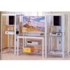 Silver/Chrome Finish T.V. Stand 7183 (CO)