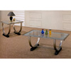 Polished Nickle And Black Finish Coffee Table 720028 (CO)