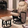 Bone Leather Glider Rocker 7292 (CO)