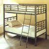 Twin/Twin Dark Silver Finish Bunk Bed 7395(CO)