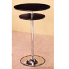 Black Bar Table With Chrome Base 7527 (CO)