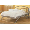 Streamlined Glossy Silver Platform Bed 7681 (CO)