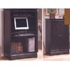 Computer Cabinet In Black Finish 800751 (CO)