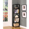 Wood Wall Corner 5-Tier Bookshelf  BK08(KBFS)