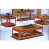 3-Pc Contemporary Oak Table Set 866-01/02 (WD)