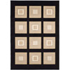 Rug 8925 Black (HD) Modern Weave Collection