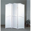 3-Panel White Wooden Room Divider Screen 900096(CO)