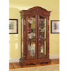 Solid Birch Wood Curio Cabinet in Rich Cherry 950102(CO)