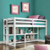 Loft Storage Bed Spacious Storage Shelves (WFS)