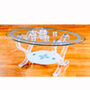 Glass Coffee Table CT-203(CR)