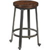 Rustic Brown Low Stool (Set of 2) D307SDCA(OFS)