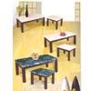 3-Pcs Marble Like Coffee End Table Set F6000_/F6000_(TMC)