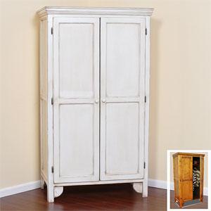 Solid Wood Wardrobe with Panel Doors GR36-P(GC)