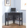 Black Solid Wood Corner Computer Desk 10850957(OFS103)