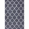 Handmade Luna Pino Moroccan Grey Trellis Rug 14121623(OFS180