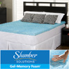 Slumber Solutions Gel Memory Foam Mattress Topper 14189758(O