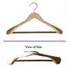 Libra Wide Shoulder Suit Hanger Natural Finish LBB8851 (PMF)
