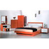 Bed With Drawers In Cherry/White P110 (PK)