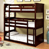 Twin Triple Decker Bunk Bed in Espresso CM-BK628(FAFS)