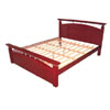 Flavia Platform Bed In Mahogany Finish (AI)