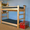 Solid Wood Adult Bunk Bed 1000 Lbs Wt. Capacity