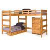 Solid Wood L-Shaped Loft Bed LB-6200(WC)