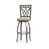 Crown Back Bar Stool 30 In. 02721MTL(LNFS)