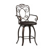 Crested Back Counter Stool 24 In. 02786MTL(LN)(Free Shipping