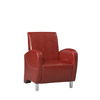 Art Deco Red Club Chair 36078RED-01-AS-U (LN)