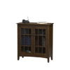 Mission Tall 2 Door Glass Cabinet 86185C137-01-KD-U (LN)