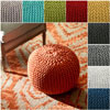 Handmade Casual Living Disco Cables Pouf Nuloom(OFS)