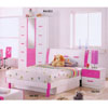 Youth Bedroom Set In Pink And White R932_ (DS)