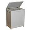 White Laundry Wood Hamper RHP0109W (OD)(Free Shipping)