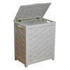 White Wood Hamper RHV0103W (OD)(Free Shipping)