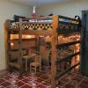 Solid Wood Brute Adult Loft Bed 1000 Lbs Wt. Capacity