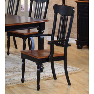 Classic Country Black/Pine Arm Chair 100593 (CO)