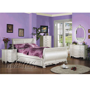 Pearl Sleigh Bedroom Set 1005/1010 (A)