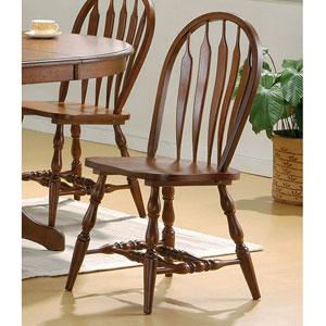 Dark Distress Oak Windsor Chair 100832 (CO)