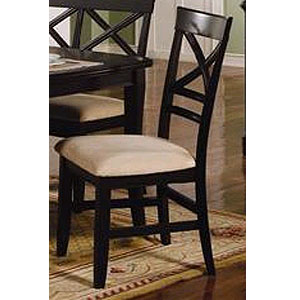 Black Finish Side Chair 101272 (CO)