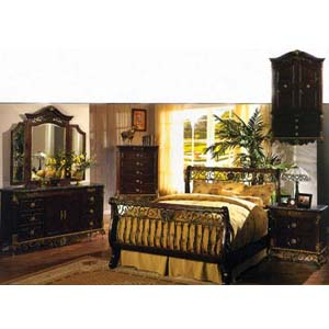 Chateau Cherry Marble Bedroom Set 1105 (WD)